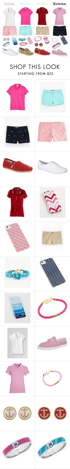"""The Clique- Casual Preppy"" by daniellenicole ❤ liked on Polyvore featuring Lacoste, Vineyard Vines, J.Crew, TOMS, Keds, Aéropostale, Sperry, Lord & Taylor, Lands' End and Vans"