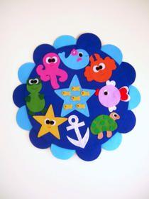 Deniz canlıları bebek - çocuk odası kapı süsü