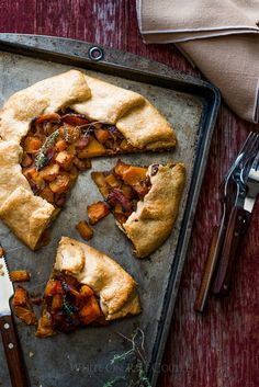 Butternut Squash and Bacon Galette Recipe by @whiteonrice on whiteonricecouple.com