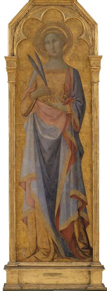 """Mesteren for Palazzo Venezia-madonnaen (ca. 1340-60), """"Santa Corona"""", inden 1351.  Statens Museum for Kunst / National Gallery of Denmark. http://www.smk.dk/index.php?id=1120"""