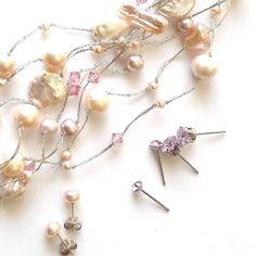 Helmirannekoru - Julian Korulipas Pearl Jewelry, Glass Beads, Helmet, Hair Accessories, Ivory, Pearls, Crystals, Silver, Gold