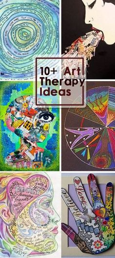 Art Therapy Ideas - brilliant & all you need is paper or a journal & some crayons! Great for Mindfulness too!!