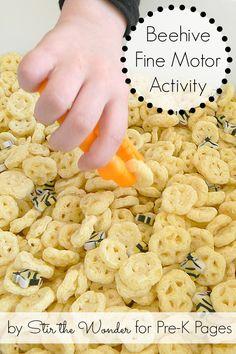 Fun Beehive Fine Motor Activity for Preschool.