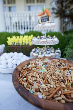 Found on : http://www.ideas.partyandeventguide.com/easter-themed-1st-birthday/ Easter Themed 1st Birthday Event Professionals:  Photographer:  Evin Photography Caterer:  Kay Mc Confections Floral Designer:  Beth\'s Bouquets Other:  Westhaven Lawn