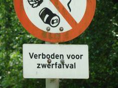 verboden voor zwerfafval