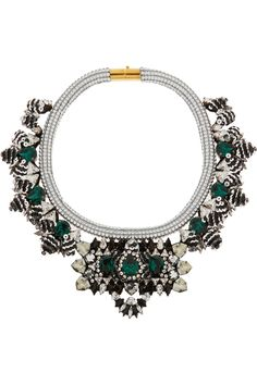 Shourouk | Avalon Swarovski crystal and sequin necklace | NET-A-PORTER.COM