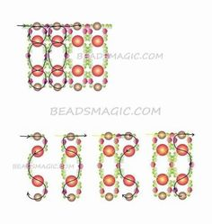 Free pattern for beaded necklace Pink Tenderness U need: seed beads bicone beads 4 mm pearl beads mm pearl beads mm Beading Patterns Free, Beading Tutorials, Free Pattern, Beaded Necklace Patterns, Beaded Bracelets, Long Pearl Necklaces, Bead Jewellery, Bead Weaving, Jewelry Making