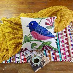 Brand New Bluebird and Tree Premium Cotton Linen Pillow Case   eBay