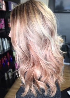 Rose Gold Hair Color 22