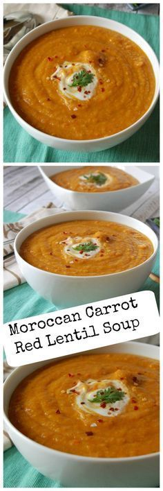 Moroccan Carrot Red Lentil Soup: hearty, flavorful, & a great winter soup #soup #recipe #wholefood #carrot #lentil #clairekcreations