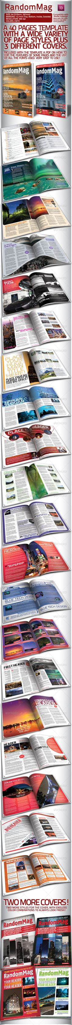 Modern Magazine 40 Pages 3 Covers by StormDesigns This is a magazine template which can be used either in print or web and the layout is good for