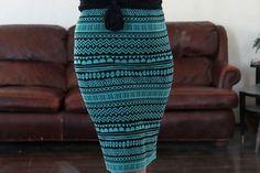 DIY Stretch Knit Pencil Skirt