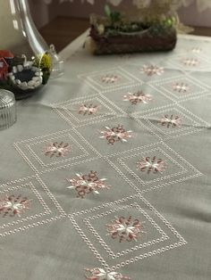 Embroidered Lace Fabric, Hardanger Embroidery, Couture, Quilts, Sewing, Home Decor, Tablecloths, Hand Embroidery Art, Table Runners