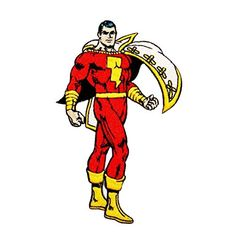 Shazam Products : Patch - DC Comic - Shazam Standing Iron On Licensed Gifts Toys p-dc-0011
