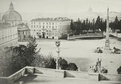 Rome, Piazza del Popolo [with Egyptian obelisk] 1860 (ca)