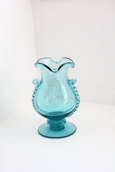 Blenko Blue Vase