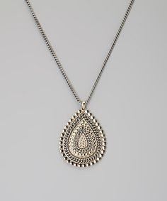 Take a look at this Silver & Gold Twisted Teardrop Pendant Necklace by Fantasy World Jewelry on #zulily today!