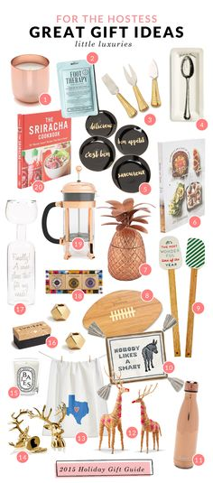 Holiday Gift Guide: Perfect gifts to give the host of all your upcoming holiday parties! Most of these items are under $30, too.