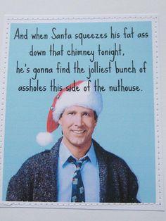 Mature funny Christmas Vacation card.