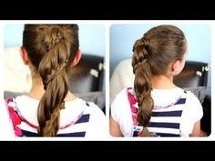 Winding Lace Braid Ponytail video tutorial!  Learn how to recreate this beautiful braid in under 5-minutes! #LaceBraid #LaceBraidPonytail #Hairstyles