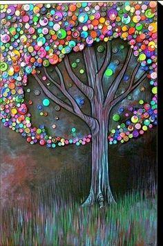 Baum aus knöpfen
