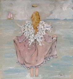 Angel by the sea original watercolor di ARTEDORI su Etsy https://www.etsy.com/it/listing/226402005/angel-by-the-sea-original-watercolor