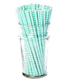 Turquoise Zigzag Straws