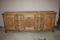 Washed 19th Century French Enfilade HEIGHT:36.5 in. (93 cm) WIDTH:7 ft. 9 in. (236 cm) DEPTH:20.5 in. (52 cm)