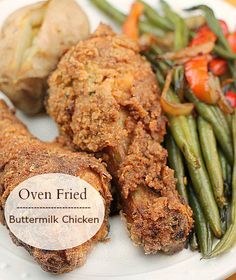 Best ever Oven Fried Buttermilk Chicken.  This is my go to recipe,  if you love ultra moist fried chicken make this your go to recipe.