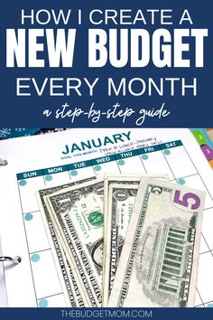 When you create a new budget every month, you can financially plan for things like upcoming holidays, special occasions, increased /decreased payments, and regular changes that happen day-to-day. Let's walk through the process together! Planning Budget, Budget Planner, Financial Planning, Monthly Budget, Financial Budget, Money Saving Challenge, Money Saving Tips, Saving Ideas, Money Tips