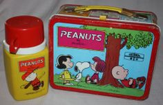 We had this Vintage 1973 Peanuts by Schulz Metal Lunchbox with Thermos Charlie Brown Snoopy | eBay