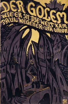 """Plakat: """"Der Golem/ Wie er in die Welt kam"""", 1919/20"""