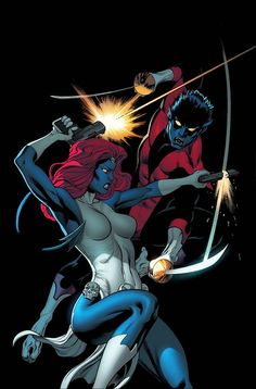 Nightcrawler vs Mystique by Ed McGuiness