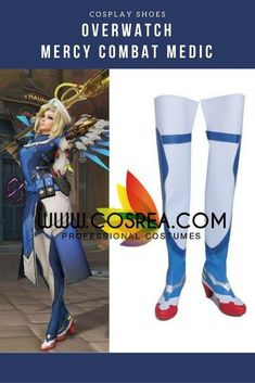 Overwatch Mercy Combat Medic Cosplay Shoes