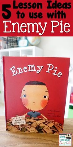 Enemy Pie is the perfect read aloud for upper elementary. Here are some Lesson ideas for using Enemy Pie in Reading and Writing. Library Lessons, Reading Lessons, Reading Activities, Teaching Reading, Teaching Ideas, Reading Strategies, Bullying Activities, Bullying Lessons, Reading Tutoring