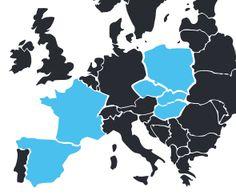 A Turbado jelenleg 6 országban képviselteti magát: