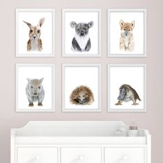Baby Animal Prints - Jungle Book Inspired - Nursery Art Print Set - Jungle Book Art - Jungle Book An Jungle Book Nursery, Safari Nursery, Animal Nursery, Nursery Themes, Nursery Prints, Nursery Wall Art, Nursery Decor, Nursery Ideas, Koala Nursery