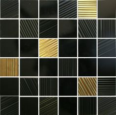 #Aparici #Neutral Slim-7 Noise Negro #Mosaico 5x5 29,75x29,75 cm   Feinsteinzeug   im Angebot auf #bad39.de 347 Euro/qm   #Mosaik #Bad #Küche