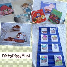 Activities & Muddy Pig Craft to Go With Books, Ten Dirty Pigs/Ten Clean Pigs by Carol Roth & Mrs. Wishy Washy's Farm by Joy Cowley (from Teaching Heart Blog)