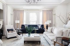 A custom home by Dana Wolter Interiors, LLC, that shows an active family can live well and comfortably in a luxurious landmark. Calcutta Gold Marble, Luxury Interior, Interior Design, French Chic, White Oak, Custom Homes, Sweet Home, Couch, Living Room