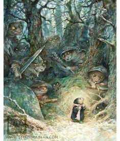 Fretten wezels en hermelijnen (en één mol ) Oh mijn afdrukken door StudioRayyan