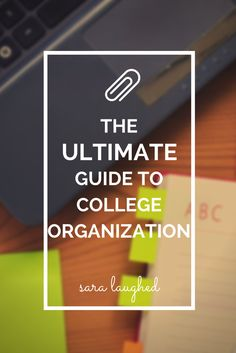 SUPER helpful organizational tips. Especially for those like me that are gonna be freshman.