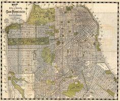 Widescreen Wallpaper Map Goodwin Fletcher Ololoshka - Los angeles map wallpaper