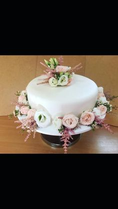 Simple wedding cake by RafaeloTorte - http://cakesdecor.com/cakes/294727-simple-wedding-cake