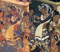 Ajanta dancing girl now and then - Ajanta Caves - Wikipedia, the free encyclopedia Dancing girl in Ajanta fresco, showing deterioration between the cave now (left) and Robert Gill's copy.[41