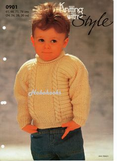 childrens sweater knitting pattern polo neck cable от Minihobo