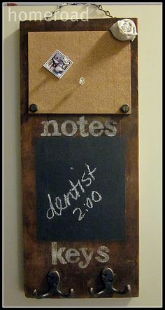 This blog is nice. also cork, chalk paint are something I have lying around the house. This fires me an idea...