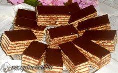 Recept: Ha a dobos tortát szereted, akkor ez is garantáltan ízleni fog. Romanian Food, Candy, Chocolate, Sweet, Serbian, Mini Desserts, Kuchen, Chocolates, Serbian Language