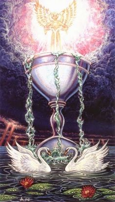 Ace of Cups by David Higgins (Sacred Isle Tarot)