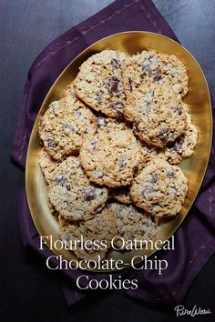 Flourless Oatmeal Chocolate-Chip Cookies via @PureWow via @PureWow